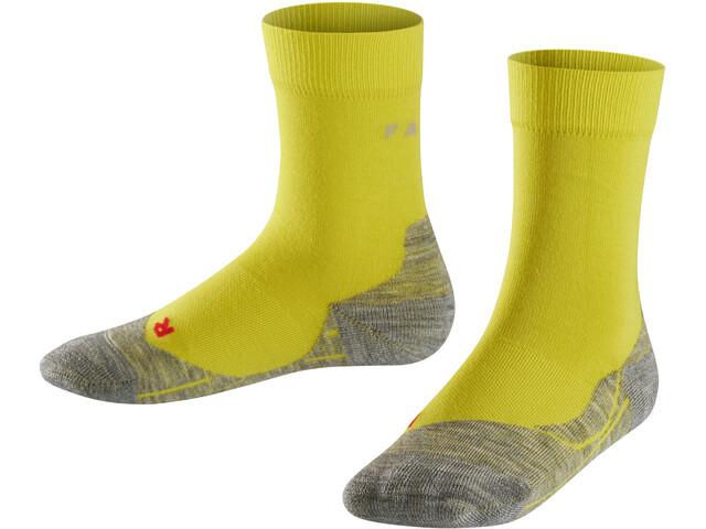 Falke RU4 - Chaussettes course à pied Enfant - jaune